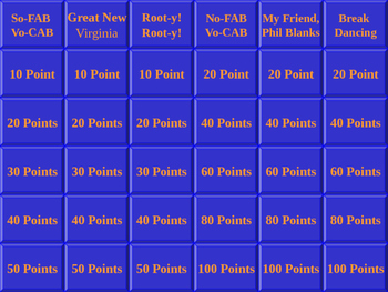 TCI Government Alive! Chapter 3 Test Jeopardy