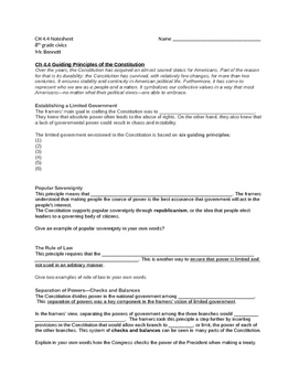 TCI Government Alive! Chapter 4-4 note sheet
