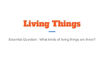 TCI Science Compare/Contrast Living Things