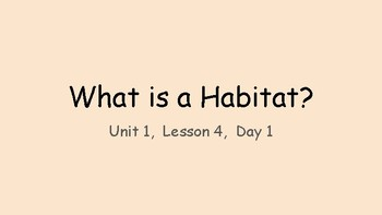 TCI Science What is a Habitat