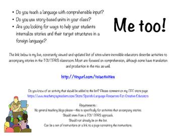 TCI/TPRS Freebie! Story-based Activities