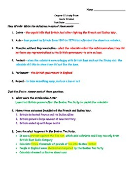 TCI's America's Past Chapter 10 Study Guide