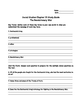 TCI's America's Past Chapter 13 Study Guide