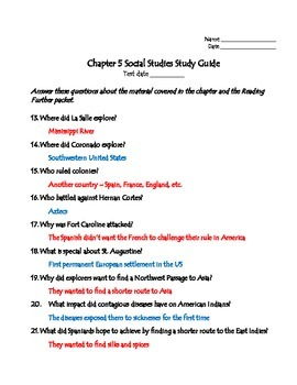TCI's America's Past Chapter 5 Study Guide