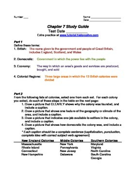 TCI's America's Past Chapter 7 Study Guide