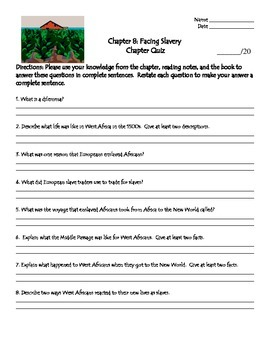 TCI's America's Past Chapter 8 Quiz - New Edition of Text