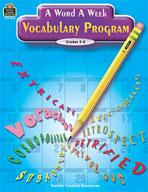 A Word A Week Vocabulary Program