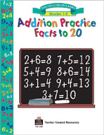 Addition Practice Facts to 20 (Enhanced eBook)