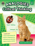 Analogies for Critical Thinking (Grades 3)