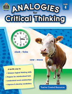 Analogies for Critical Thinking (Grades 4) (Enhanced eBook)