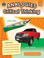 Analogies for Critical Thinking (Grades 5) (Enhanced eBook)