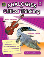 Analogies for Critical Thinking (Grades 6)