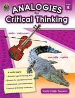Analogies for Critical Thinking (Grades 6) (Enhanced eBook)