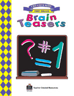 Brain Teasers, Grade 1 Workbook