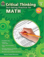 Critical Thinking: Test-taking Practice for Math Grade 3 (Enhanced eBook)
