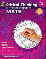 Critical Thinking: Test-taking Practice for Math Grade 4 (eBook)
