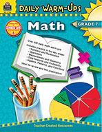 Daily Warm-Ups: Math Grade 7 (Enhanced eBook)