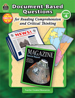 Document-Based Questions for Reading Comprehension and Critical Thinking: Grade 4