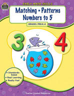 Early Math Skills: Matching-Patterns-Numbers to 5 (Enhanced eBook)