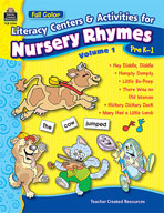Full-Color Literacy Activities & Centers for Nursery Rhymes Volume 1
