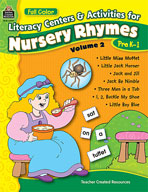 Full-Color Literacy Activities & Centers for Nursery Rhymes Volume 2