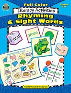 Full-Color Literacy Activities: Rhyming and Sight Words (Enhanced eBook)