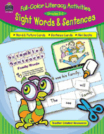 Full-Color Literacy Activities: Sight Words & Sentences