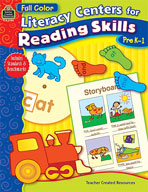 Full-Color Literacy Centers for Reading Skills (Enhanced eBook)
