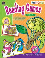 Full-Color Reading Games: Grades K-1 (Enhanced eBook)