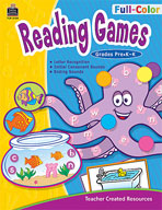 Full-Color Reading Games, PreK-K (Enhanced eBook)
