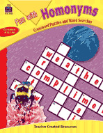 Fun with Homonyms - Crossword Puzzles and Word Searches