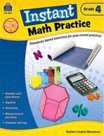 Instant Math Practice: Grade 4