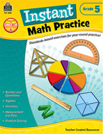 Instant Math Practice: Grade 5