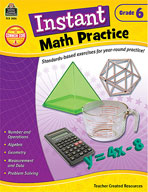 Instant Math Practice: Grade 6