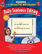Interactive Learning: Daily Sentence Editing (Grade 1)