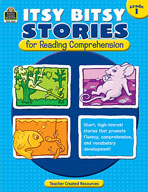 Itsy Bitsy Stories for Reading Comprehension: Grade 1 (Enhanced eBook)