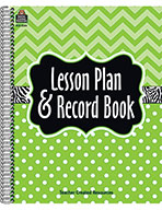 Lime Chevrons and Dots Lesson Plan & Record Book (eBook)