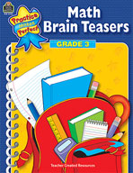 Math Brain Teasers: Grade 3 (Enhanced eBook)