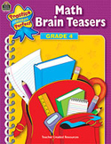 Math Brain Teasers: Grade 4 (Enhanced eBook)