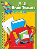 Math Brain Teasers: Grade 5 (Enhanced eBook)