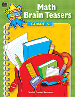 Math Brain Teasers: Grade 5 (Enhanced eBook)