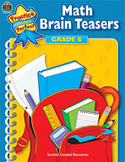 Math Brain Teasers: Grade 6 (Enhanced eBook)