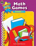 Math Games: Grade 1 (Enhanced eBook)