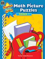 Math Picture Puzzles: Grade 1 (Enhanced eBook)