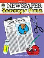 Newspaper Scavenger Hunts