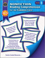 Nonfiction Reading Comprehension for the Common Core Grade 1 (eBook)