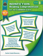 Nonfiction Reading Comprehension for the Common Core Grade 3 (Enhanced eBook)