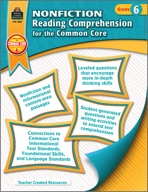 Nonfiction Reading Comprehension for the Common Core Grade 6 (Enhanced eBook)