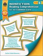 Nonfiction Reading Comprehension for the Common Core Grade 6 (eBook)