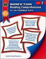 Nonfiction Reading Comprehension for the Common Core Grade 7 (Enhanced eBook)
